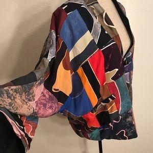 Vintage Jackets & Coats - Vintage 80's batik jacket coat